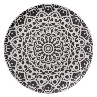 Platten-Stammes- Mandala G385 Teller