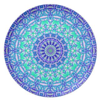 Platten-Stammes- Mandala G389 Melaminteller