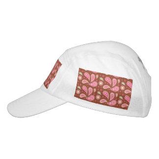 Platten von rosa Paisley Headsweats Kappe