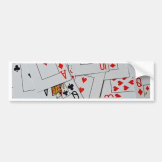 Plattform des Streuungs-Spielkarte-Musters, Autoaufkleber