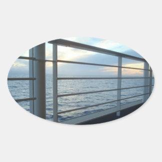 Plattform-waagerecht ausgerichtetes Ansicht-Oval Ovaler Aufkleber