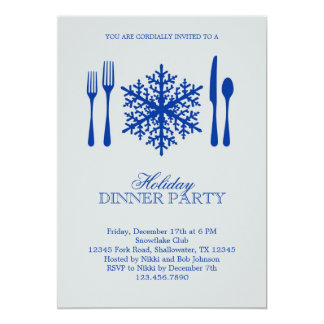 Platz-Einstellungs-Weihnachtsabendessen-Party 12,7 X 17,8 Cm Einladungskarte