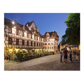 Platz morgens Tiergärtnertor, Nürnberg Postkarte