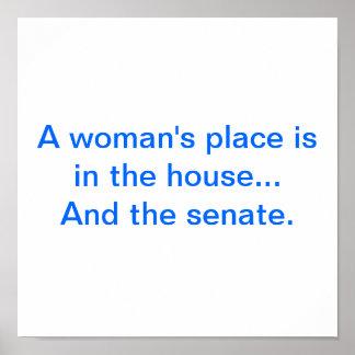 """Platz"""" Plakat """"einer Frau"""