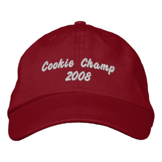 Plätzchen-Champion 2008 Bestickte Baseballkappe