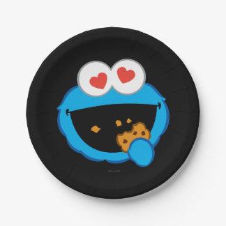 Plätzchen-lächelndes Gesicht mit Herz-Förmigen Pappteller