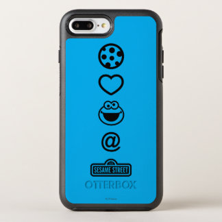 Plätzchen-Liebe-Plätzchen-Monster OtterBox Symmetry iPhone 8 Plus/7 Plus Hülle