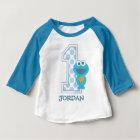 Plätzchen-Monster-erster Geburtstag des Sesame Baby T-shirt