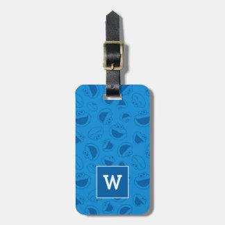 Plätzchen-Monster | ich fantastisches blaues Gepäckanhänger