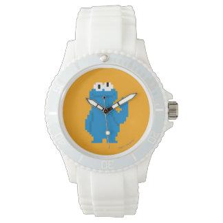 Plätzchen-Monster-Pixel-Kunst Armbanduhr