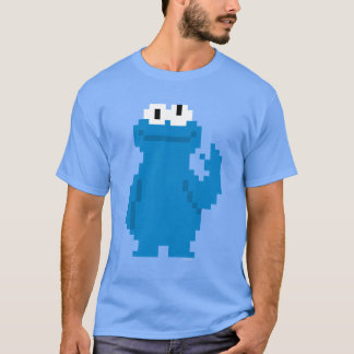 Plätzchen-Monster-Pixel-Kunst T-Shirt