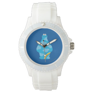 Plätzchen-Monster-Regenbogen Armbanduhr