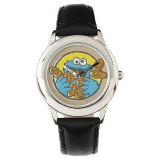 Plätzchen-Monster Retro Uhr