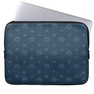 Plätzchen-Monster-und Plätzchen-blaues Laptop Sleeve