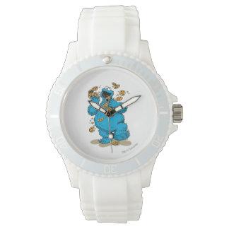 Plätzchen-Monster-verrückte Plätzchen Uhr