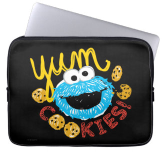 Plätzchen-Monster Yum Laptopschutzhülle