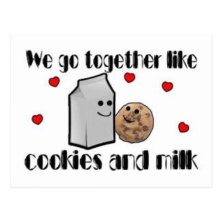 Plätzchen u. Milch-Liebe Postkarte