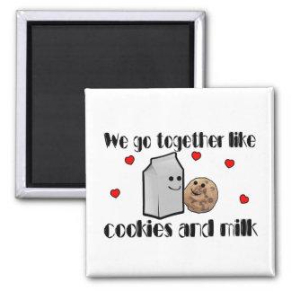 Plätzchen u. Milch-Liebe Quadratischer Magnet