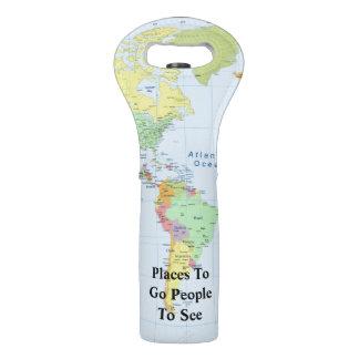 Plätze, zum zu gehen Leute, zum der Weltkarte zu Weintasche