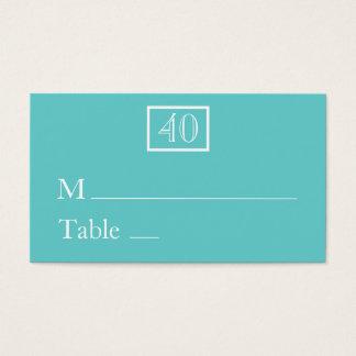 Platzkarte-/Namenskarten - Aqua Visitenkarten
