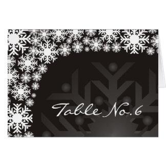 Platzkarte - Schneeflocke-Winter-Hochzeit
