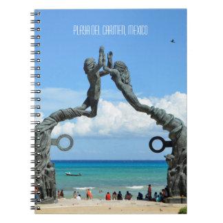 Playa del Carmen-karibische Ozean-Strand-Szene Spiral Notizblock