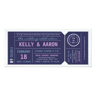 Playbill Theater-Karten-Hochzeits-Einladung - 10,2 X 23,5 Cm Einladungskarte