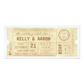 Playbill Vintage 10,2 X 23,5 Cm Einladungskarte