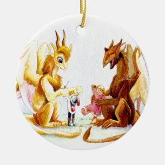 Playdate Rundes Keramik Ornament