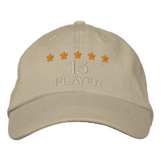 Player 13 - 002 bestickte kappe