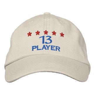 Player 13 bestickte baseballkappe