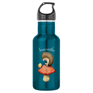 Playful Igel mit Ihrem Namen Edelstahlflasche