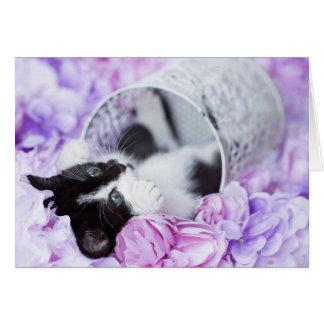 """Playful """"Pippa"""" lila leeres mit Blumennotecard Karte"""