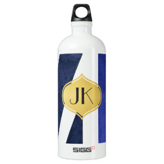 Playfully cooles geometrisches aluminiumwasserflasche