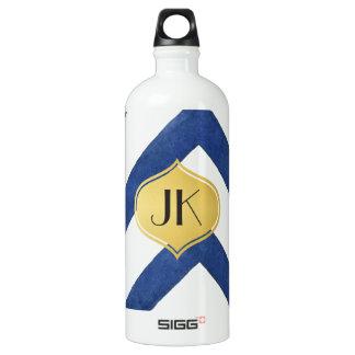 Playfully cooles geometrisches wasserflasche