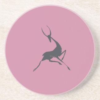 Playfully elegante Hand gezeichnete graue Gazelle Getränkeuntersetzer