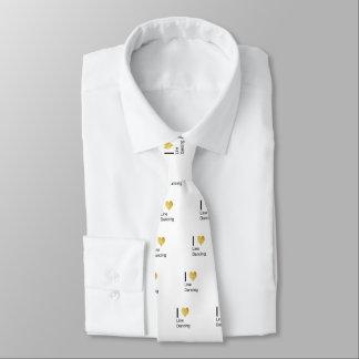 Playfully elegante i-Herz-Linie Tanzen Krawatte