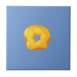 Playfully köstlicher Mund-wässernkrapfen Kleine Quadratische Fliese