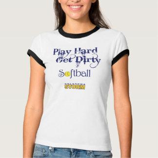PlayHard - erhalten Sie schmutzigen Softball T-Shirt