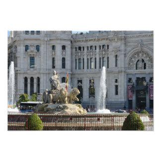 Plaza de Cibeles, Madrid Foto Drucke