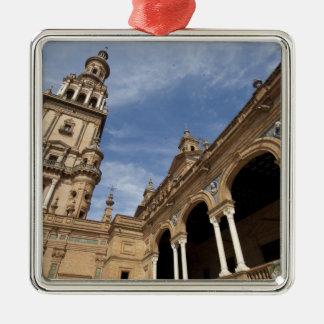 Plaza de Espana, Sevilla, Andalusien, Spanien Silbernes Ornament