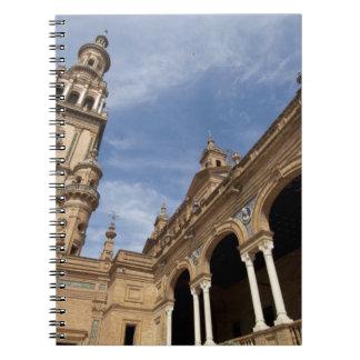 Plaza de Espana, Sevilla, Andalusien, Spanien Spiral Notizblock