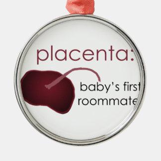 Plazenta, der erste Zimmergenosse des Babys Silbernes Ornament