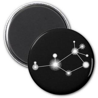 Pleiades allein - Magneten Runder Magnet 5,7 Cm