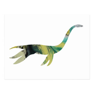 plesiosaur Skelett Postkarte