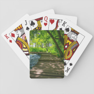 Plitvice Nationalpark in Kroatien Spielkarten