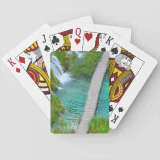 Plitvice Nationalpark in Kroatien-Wanderwegen Spielkarten