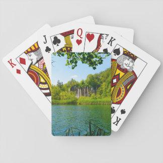 Plitvice See-Nationalpark in Kroatien Spielkarten