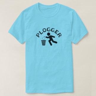 Plogger mit Läufer-Ikone Plogging T-Shirt