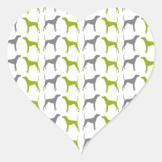 Plott Hound Pattern Herz-Aufkleber